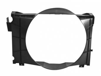 SHROUD, Radiator Fan, plastic, 22 5/8 inch height x 21 1/8 inch width (fan opening), 22 5/8 inch height x 32 1/8 inch width x 8 3/4 inch depth (total size)