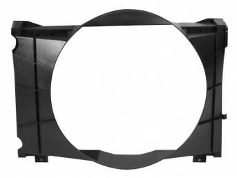 SHROUD, Radiator Fan, plastic, 22 15/16 inch height x 21 1/8 inch width (fan opening), 22 15/16 inch height x 30 1/2 inch width x 8 5/8 inch depth (over all specs)