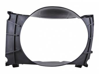 SHROUD, Radiator Fan, plastic, 21 inch height x 22 3/4 inch width (fan opening), 21 inch height x 30 1/2 inch width x 8 7/8 inch depth (total size)