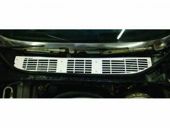 Grille, Cowl Vent, Clear Anodized (silver satin) Finish