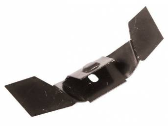 ANCHOR BRACKET, Rear Seat Lower Frame, installs on under rear seat floor pan and provides a positive retention point for seat frame to hook into, repro