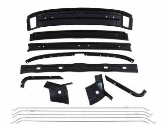 BRACE KIT, Roof Panel, reinforces roof skin panel, (14) incl braces and headliner bows, repro