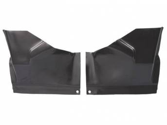 BRACKETS, Package Tray X Brace, (2) PC SET, Repro, ** Braces Weld To Under Rear Seat Pan To Support The Package Tray Panel **