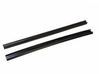GUTTER SET, Rear Compartment / Trunk Weatherstrip, (2) Incl a pair of 20 inch length straight sections for quarter panels, 20 gauge steel, EDP-coated repro