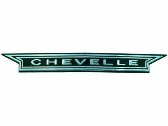 EMBLEM, Grille, *Chevelle*, US-made OE Correct Repro w/