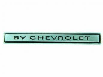EMBLEM, Header Panel, *By Chevrolet*, incl attaching hardware,