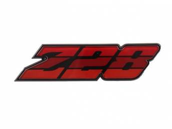 Emblem Grille Z/28 Red Tri-Tone Incl Retainer Us-Made