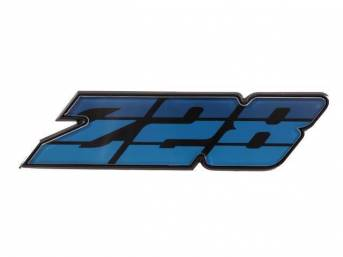 Emblem Grille Z/28 Blue Tri-Tone Incl Retainer Us-Made