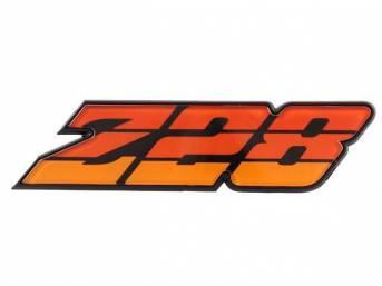 EMBLEM, Grille, *Z/28*, Orange Tri-Tone, incl retainer, US-made