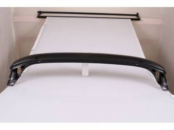 RAIL ASSY, CONVERTIBLE HEADER BOW, MADE TO ORIGINAL SPECIFICATIONS W/ ALL MOUNTING HOLES IN THE CORRECT POSITION FOR A PROFESSIONAL INSTALLATION, REPRO