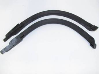 WEATHERSTRIP SET, Windshield Pillar, incl molded ends, Repro  ** Limited Lifetime Warranty, see incl card for details **