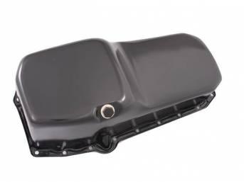 OIL PAN, Engine, steel, black painted, LH driver