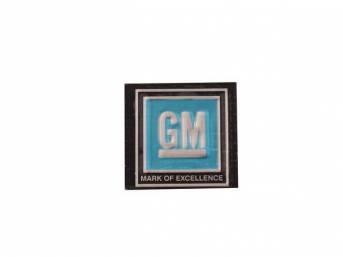 Seat Belt Buckle Decal / Insert, *GM*, Aqua