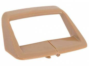 Seat Shoulder Strap Guide / Retainer, Buckskin, RH or LH, OER Repro