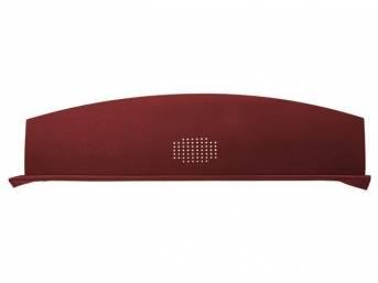 Package Tray / Rear Shelf, Mesh, Medium Red, 1 speaker design (center)