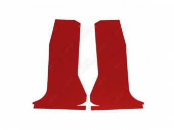 QUARTER TRIM SET, Red, Die-cut boards that curve