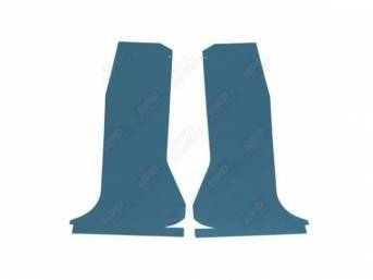 QUARTER TRIM SET, Light Blue, Die-cut boards that
