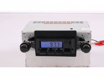 Radio, AM/FM W/ Front Auxiliary Input (for Ipod, MP3 player, satellite radio), 200 Watt (4 x 50 watt), Black Faceplate, features LCD display w/ blue illumination, 6 AM / 6 FM presets, manual up / down tuning, seek / auto scan, 4-way fader control for fron