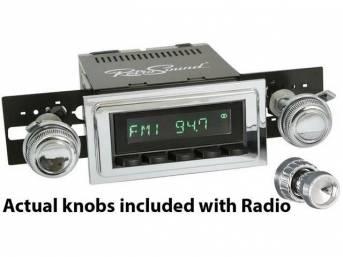 RetroSound Hermosa RetroRadio, black and chrome face