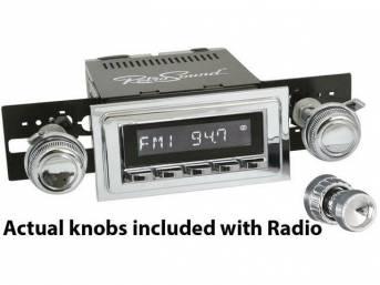 RetroSound Hermosa RetroRadio, chrome face