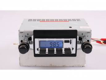 Radio, AM/FM W/ Front Auxiliary Input (for Ipod, MP3 player, satellite radio), 200 Watt (4 x 50 watt), chrome faceplate, features LCD display w/ blue illumination, 6 AM / 6 FM presets, manual up / down tuning, seek / auto scan, 4-way fader control for fro