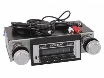 Radio, AM/FM, W/ Rear Auxiliary Input (for iPod, MP3 player, satellite radio), 300 watts, chrome faceplate, Direct CD Controller option