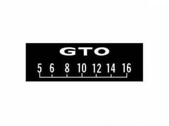 SCREEN PROTECTORS, (3), White, *GTO* w/ block lettering,