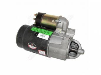 STARTER MOTOR, Rebuilt by Delco Remy (OEM), Straight Mount, Column Shift, 2 Speed, Aluminum