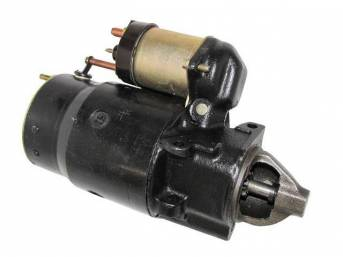 STARTER MOTOR, Rebuilt by Delco Remy (OEM), Offset Mount, Floor Shift, 3 Speed, Cast Iron