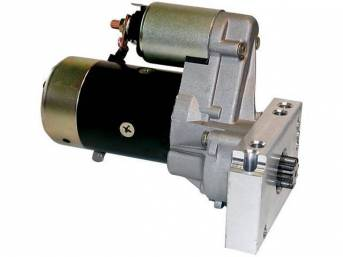 STARTER MOTOR, HIGH TORQUE GEAR REDUCTION, Mini-Style, 2.2 KW MOTOR, 15:1 COMP, GM Licensed item, repro