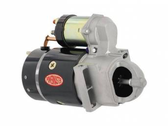 STARTER, NEW, by Powermaster, OEM-Style High-Torque, 95 ft lbs torque, 1.8 hp, Direct Drive, staggered mount, 168 tooth flywheel, 18 lbs