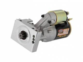 STARTER, NEW, by Powermaster, PowerMAX Plus, 180 ft lbs torque, 14:1 max compression ratio, staggered mount, 168 tooth flywheel, 10.75 lbs