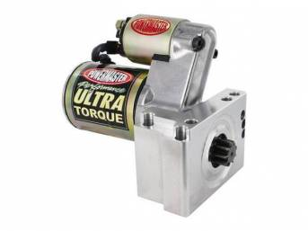 STARTER, NEW, by Powermaster, Ultra Torque, 250 ft lbs torque, 18:1 max compression ratio, 3.4hp, staggered mount, 168 tooth flywheel, 10.75 lbs