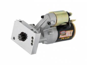 STARTER, NEW, by Powermaster, PowerMAX Plus, 180 ft lbs torque, 14:1 max compression ratio, straight mount, 153 or 168 tooth flywheel, 10.50 lbs
