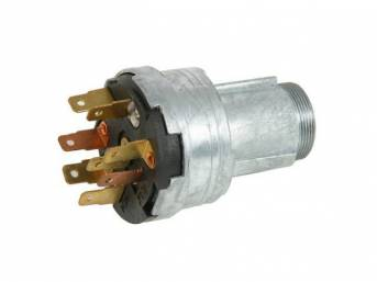 SWITCH ASSY, Ignition, 8 prong, Original GM p/n 1116693, repro  ** the inner cylinder base may require clocking to allow key cylinder to fully seat, when using w/ repro bezel (p/n C-2198-403A) the first few threads can be hard to line up, but bezel does t