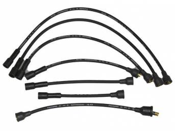 WIRE SET, Spark Plug, OE Correct, features black wires w/ *PACKARD*, *TVR*, *SUPPRESSION* and *1Q-69* date code, Repro