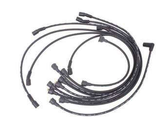 WIRE SET, Spark Plug, OE Correct, features black wires w/ *PACKARD*, *TVR*, *SUPPRESSION* and *3-Q-64* date code, Repro