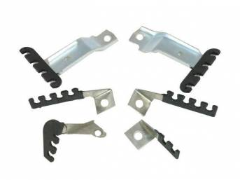 RETAINER SET, Spark Plug Wires, (6) incl all wire stands and retainers to do a full set of wires, repro