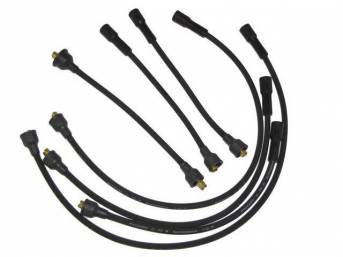WIRE SET, Spark Plug, OE Correct, features black wires w/ *PACKARD*, *TVR*, *SUPPRESSION* and *1-Q-71* date code, Repro