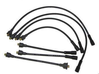 WIRE SET, Spark Plug, OE Correct, features black wires w/ *PACKARD*, *TVR*, *SUPPRESSION* and *3-Q-70* date code, Repro