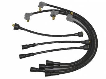 WIRE SET, Spark Plug, OE Correct, features black wires w/ *PACKARD*, *RADIO*, *TVRS*, *LR* and *3-Q-65* date code, Repro