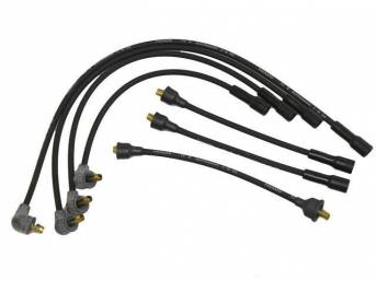 WIRE SET, Spark Plug, OE Correct, features black wires w/ *PACKARD*, *TVR*, *SUPPRESSION* and *3-Q-66* date code, Repro