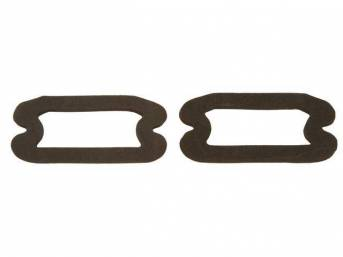 GASKET SET, Parking Light Lens to Housing, Die-cut foam, repro ** For a molded rubber version seal, See p/n C-2590-401AP **