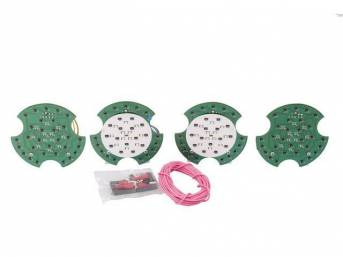 LED CONVERSION KIT, Tail Light, W/ back up lights, Incl 4 panels, Wiring and instructions, 6 sequential patterns, Requires low current draw flasher module p/n C-2892-01A