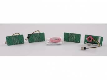 LED CONVERSION KIT, Tail Light, Incl 4 panels, wiring and instructions, 10 sequential patterns, Requires low current draw flasher module p/n C-2892-01A