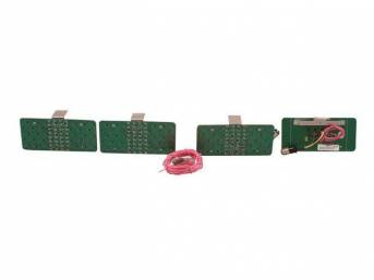 LED CONVERSION KIT, Tail Light, Incl 4 panels, Wiring and instructions, 8 sequential patterns, Requires low current draw flasher module p/n C-2892-01A