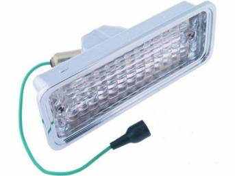 LIGHT ASSY, Back Up, Clear, RH or LH, Incl Housing, Lens, Bulb, Socket and Pigtail, Repro