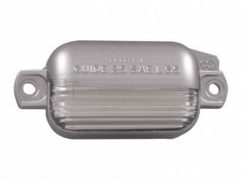 LENS, Rear License Light, features correct *GUIDE* markings,