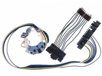SWITCH, Turn Signal, *Delco Remy* Type, incl switch and harness, plus jumper harness to go from *flat* plug to *half-moon* plug, AC Delco