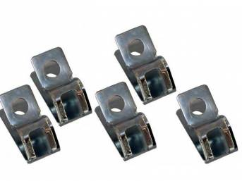 CLIP SET, Fuel Lines, (5) incl 3/8 X 1/4 Inch clips w/ slots, repro